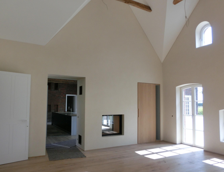 Tunnelkamine mit doppelter feuersicht for Raumteiler ka che wohnzimmer